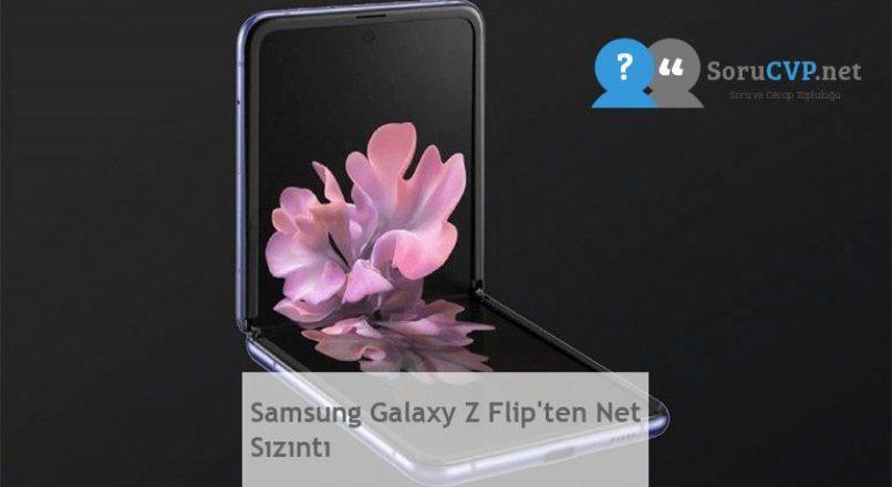 Samsung Galaxy Z Flip'ten Net Sızıntı