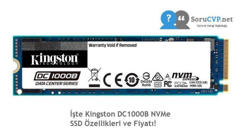 İşte Kingston DC1000B NVMe SSD Özellikleri ve Fiyatı!