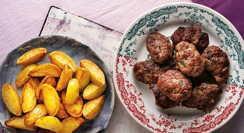 Ana köftesi ve patates kızartması