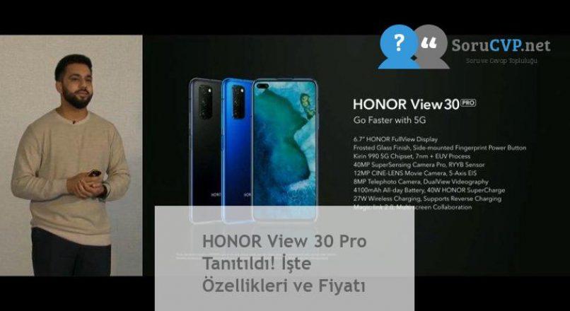 HONOR View 30 Pro Tanıtıldı! İşte Özellikleri ve Fiyatı