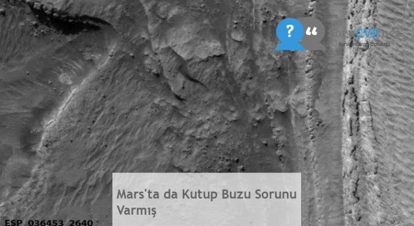 Mars'ta da Kutup Buzu Sorunu Varmış