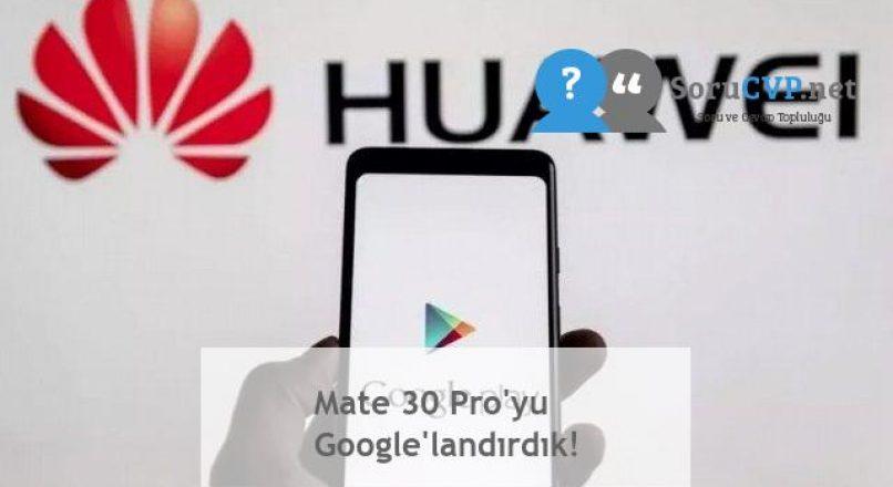 Mate 30 Pro'yu Google'landırdık!