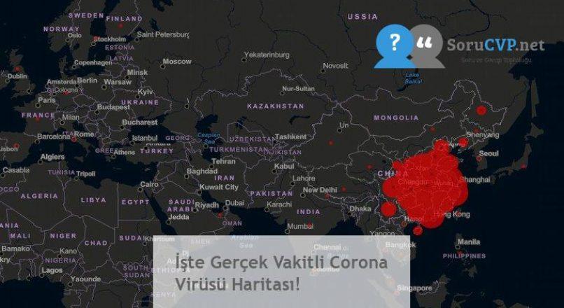 İşte Gerçek Vakitli Corona Virüsü Haritası!