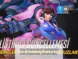 İşte Overwatch Geliştirici Güncellemesi Görüntüsü