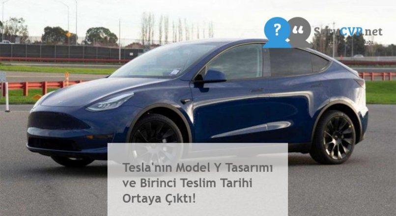Tesla'nın Model Y Tasarımı ve Birinci Teslim Tarihi Ortaya Çıktı!