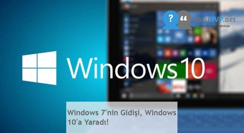 Windows 7'nin Gidişi, Windows 10'a Yaradı!