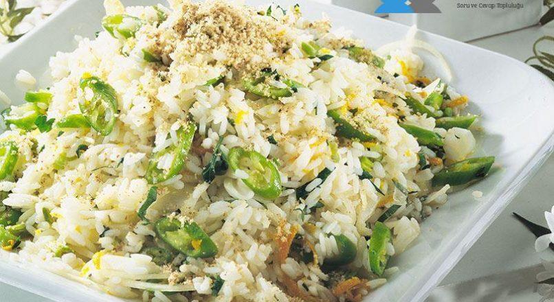 Maydanozlu pirinç salatası