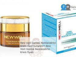 New well Günlük Nemlendirici Krem nasıl kullanılır? New Well Günlük Nemlendirici Krem fiyatı