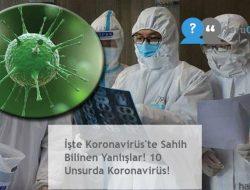 İşte Koronavirüs'te Sahih Bilinen Yanlışlar! 10 Unsurda Koronavirüs!