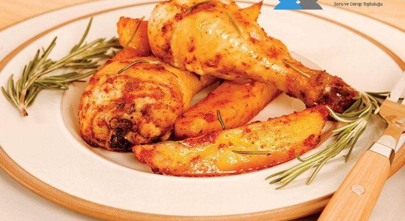 Fırında patatesli tavuk eti