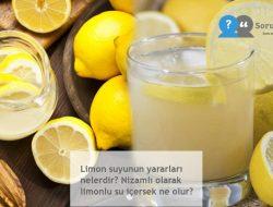 Limon suyunun yararları nelerdir? Nizamlı olarak limonlu su içersek ne olur?