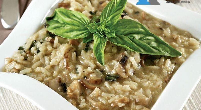 Mantarlı risotto