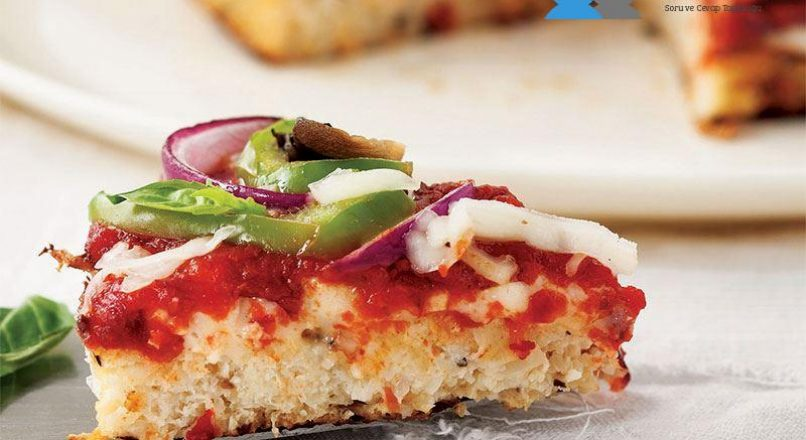 Sebzeli karnabahar pizza