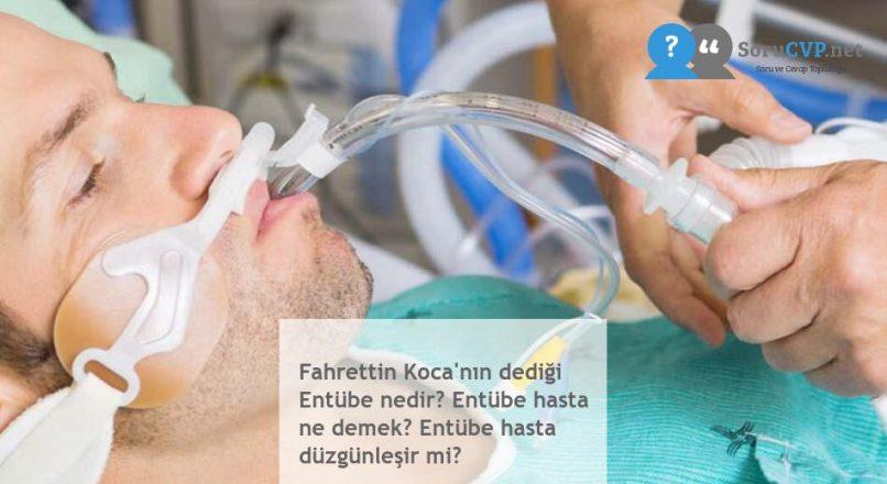 Fahrettin Koca'nın dediği Entübe nedir? Entübe hasta ne demek? Entübe hasta düzgünleşir mi?