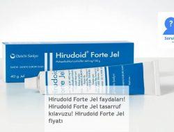 Hirudoid Forte Jel faydaları! Hirudoid Forte Jel tasarruf kılavuzu! Hirudoid Forte Jel fiyatı