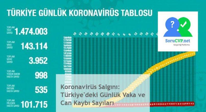 Koronavirüs Salgını: Türkiye'deki Günlük Vaka ve Can Kaybı Sayıları