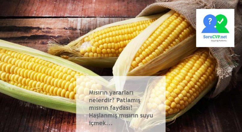 Mısırın yararları nelerdir? Patlamış mısırın faydası! Haşlanmış mısırın suyu içmek…