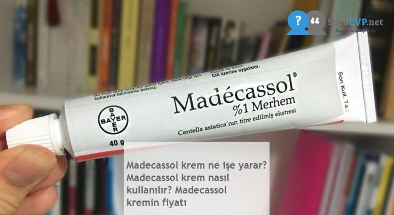 Madecassol krem ne işe yarar? Madecassol krem nasıl kullanılır? Madecassol kremin fiyatı