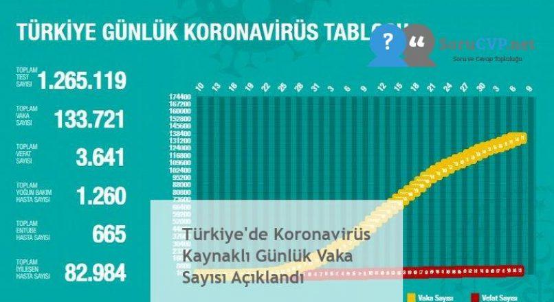 Türkiye'de Koronavirüs Kaynaklı Günlük Vaka Sayısı Açıklandı