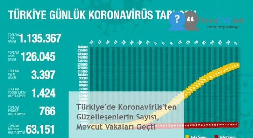 Türkiye'de Koronavirüs'ten Güzelleşenlerin Sayısı, Mevcut Vakaları Geçti