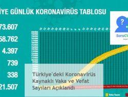 Türkiye'deki Koronavirüs Kaynaklı Vaka ve Vefat Sayıları Açıklandı