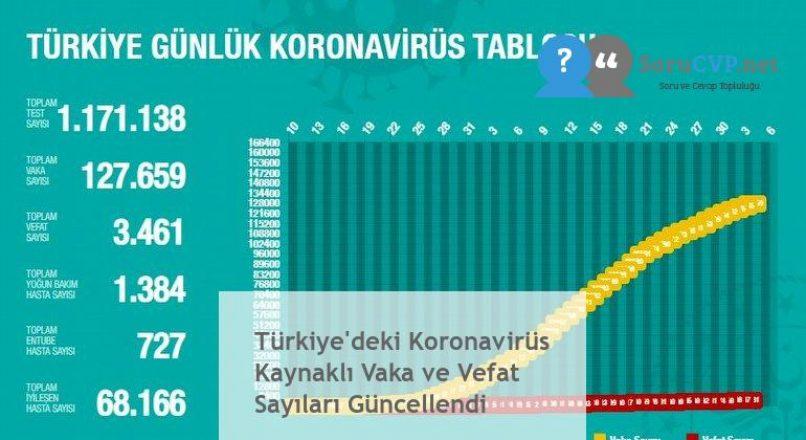 Türkiye'deki Koronavirüs Kaynaklı Vaka ve Vefat Sayıları Güncellendi
