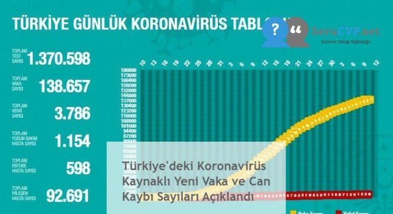 Türkiye'deki Koronavirüs Kaynaklı Yeni Vaka ve Can Kaybı Sayıları Açıklandı