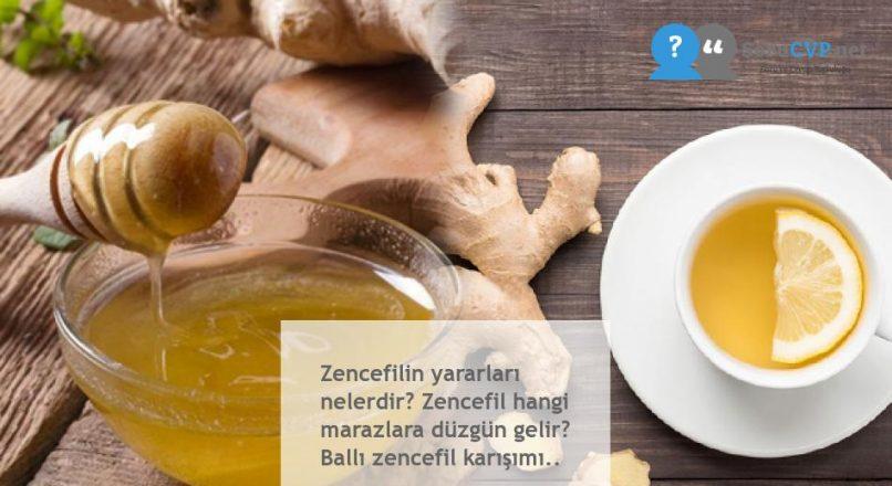 Zencefilin yararları nelerdir? Zencefil hangi marazlara düzgün gelir? Ballı zencefil karışımı..