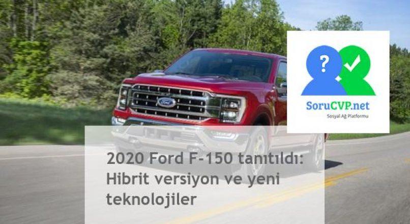 Ford F-150 2020: Hibrit versiyon [Yeni]