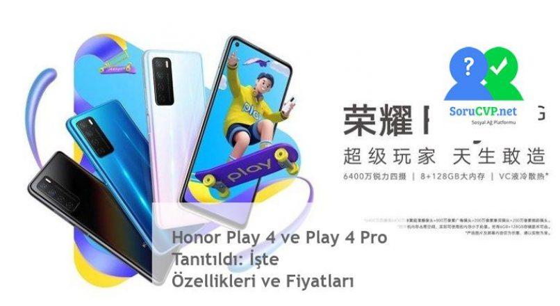 Honor Play 4 / Play 4 Pro Tanıtımı, Özellikleri & Fiyat