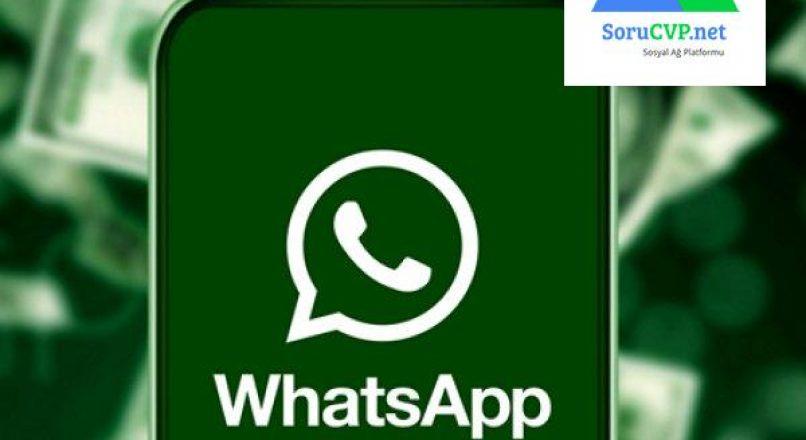 WhatsApp: Para gönderimi ve para alma özelliği geldi !